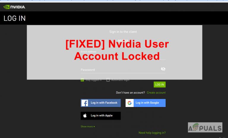 Entsperren eines gesperrten NVIDIA-Benutzerkontos (Fix)