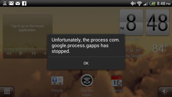 So beheben Sie den Fehler 'com.google.process.gapps' wurde gestoppt