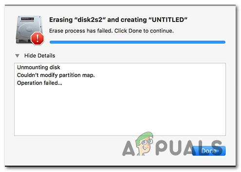 So beheben Sie 'Partitionszuordnung konnte nicht geändert werden' in macOS