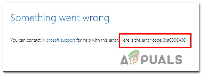 So beheben Sie den Windows 10-Fehler 0xA0000400