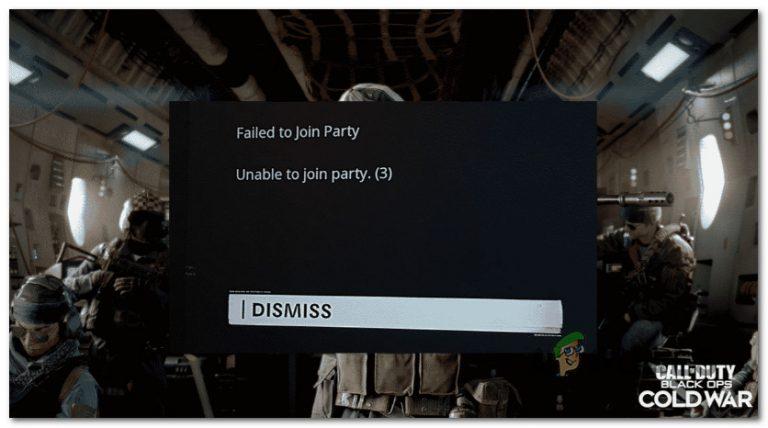 Fix COD Cold War Error Code 3 (Fehler bei der Teilnahme an der Party)