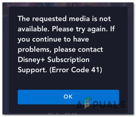 So beheben Sie 'Fehlercode 41' Disney Plus