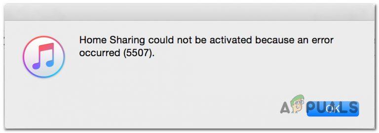 [FIX] Privatfreigabe konnte nicht aktiviert werden (Fehler 5507)