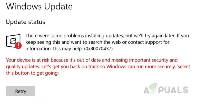 Wie behebt man den Windows Update-Fehlercode 0x80070437 unter Windows 10?