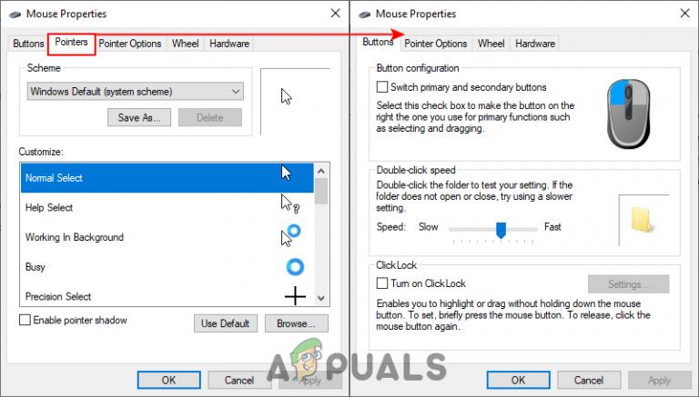Wie kann man verhindern, dass Benutzer Mauszeiger in Windows 10 ändern?