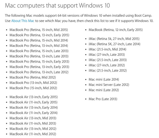 So installieren Sie Windows 10 auf einem Mac mit Boot Camp
