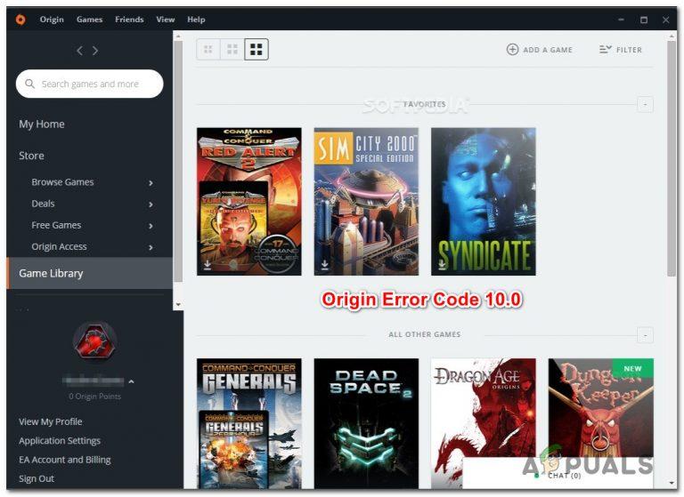 Fix: Origin Code 10.0 kann unter Windows 10 nicht installiert werden