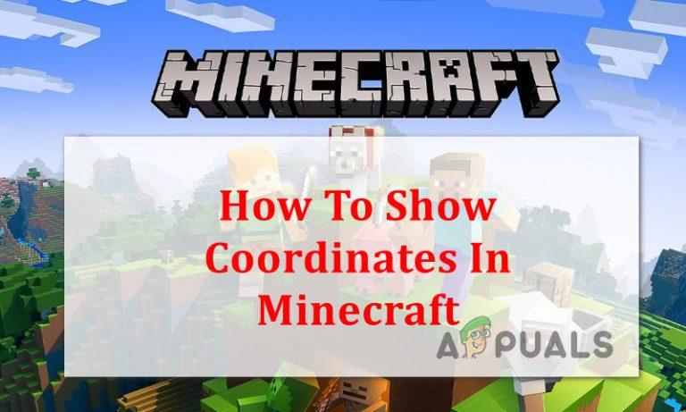 So sehen Sie Koordinaten in Minecraft