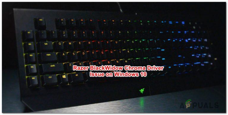 Wie behebt man das Razer BlackWidow Chroma-Treiberproblem unter Windows 10?