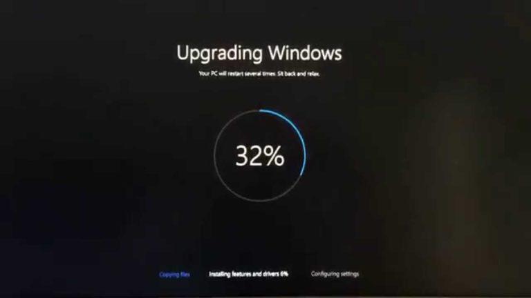 Windows 10-Update bleibt bei 32 % hängen