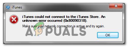 Fehlercode 0x80090318 beim Zugriff auf die iTunes Store-Website