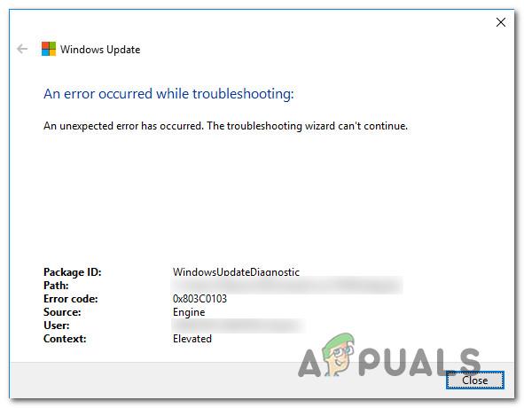 So beheben Sie den 0x803c0103-Fehler mit der Windows Update-Fehlerbehebung