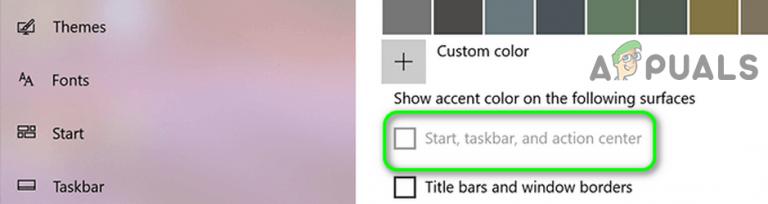 [SOLVED] Kann die Farbe der Taskleiste in Windows 10 nicht ändern