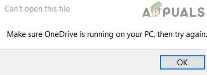 Wir können diese Datei im Moment nicht öffnen.  Stellen Sie sicher, dass OneDrive auf Ihrem PC ausgeführt wird (Fix)