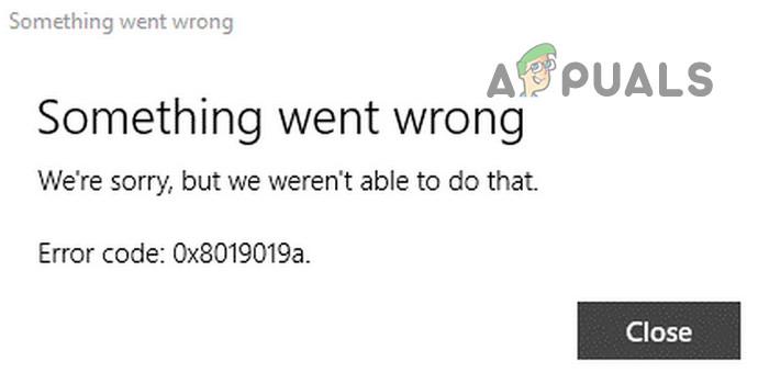Fix: Fehlercode 0x8019019a beim Einrichten von Yahoo Mail in der Windows 10 Mail App