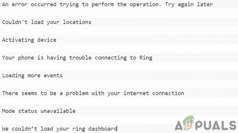 Ring-App funktioniert nicht [FIXED]
