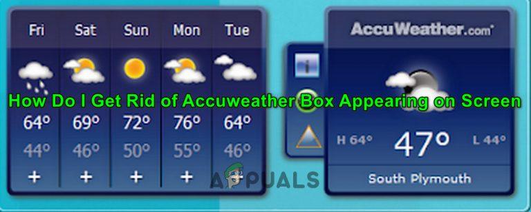 So entfernen Sie die Accuweather-Box, die auf dem Bildschirm angezeigt wird