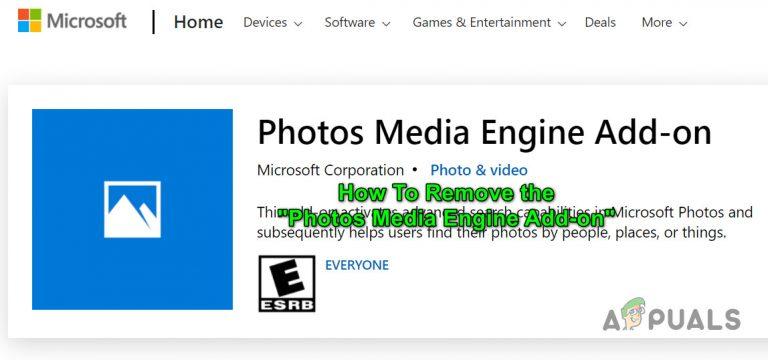 Fix: So entfernen Sie das Photos Media Engine-Add-on