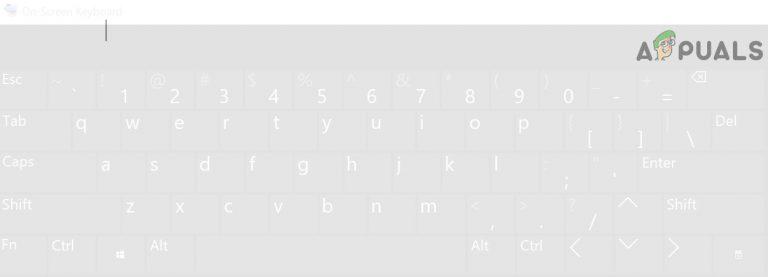 Fix: Bildschirm- oder Touch-Tastatur von Schwarz auf Weiß geändert