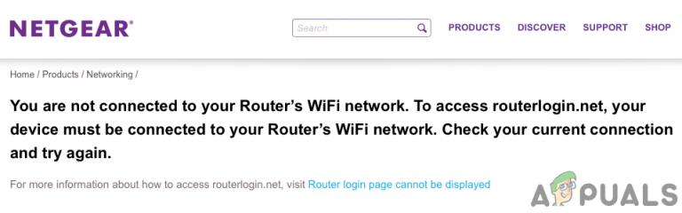 Fix: Routerlogin.net funktioniert nicht (Netgear)