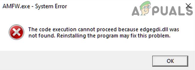 Fix: Die Codeausführung kann nicht fortgesetzt werden (Edgegdi.dll-Fehler)