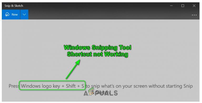 Fix: Windows Snipping Tool Shortcut funktioniert nicht