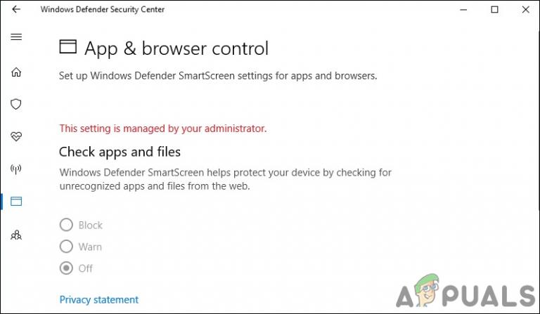 Wie blende ich den App- und Browser-Schutzbereich in Windows 10 aus?