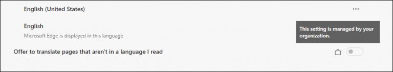 Wie kann ich das Angebot zum Übersetzen von Seiten in Microsoft Edge Chromium deaktivieren?