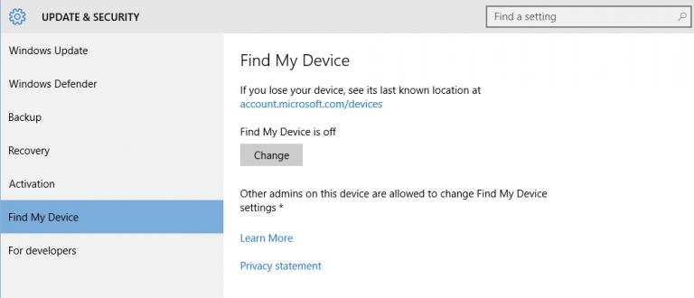 """Wie aktiviere oder deaktiviere ich """"Mein Gerät suchen"""" in Windows 10?"""