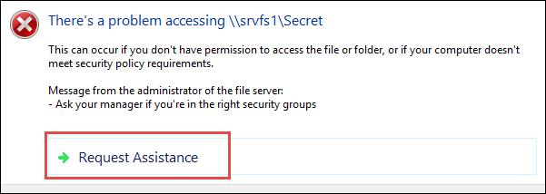 """Wie passe ich die Meldung """"Zugriff verweigert"""" unter Windows 10 an?"""
