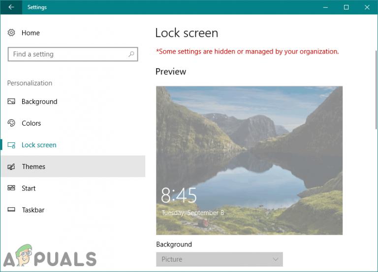 Wie kann man verhindern, dass Benutzer den Sperrbildschirm und das Anmeldebild in Windows 10 ändern?