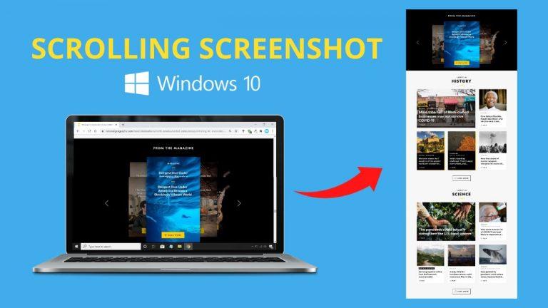 Wie mache ich einen Scrolling-Screenshot unter Windows?