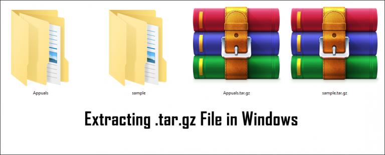 Wie entpacke ich eine .tar.gz-Datei in Windows?