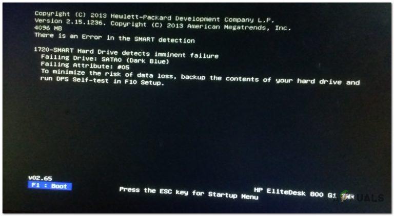 [Fix] Fehler '1720-SMART-Festplatte erkennt drohenden Ausfall'