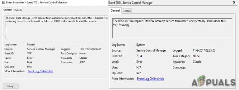 So beheben Sie den Fehler mit der Ereignis-ID 7031 oder 7034, wenn sich der Benutzer von Windows 10 abmeldet