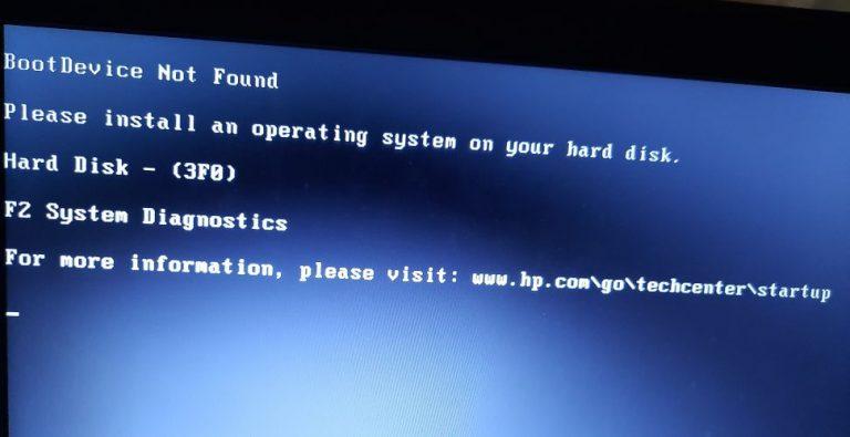 Fix: Boot-Gerät nicht gefunden Festplatte – (3F0) Fehler auf Ubuntu PC