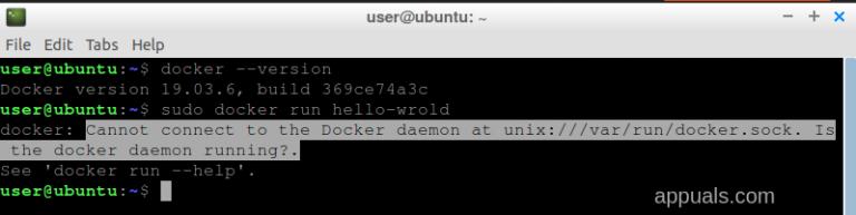 [FIX] Keine Verbindung zum Docker-Daemon unter 'unix:///var/run/docker.sock'