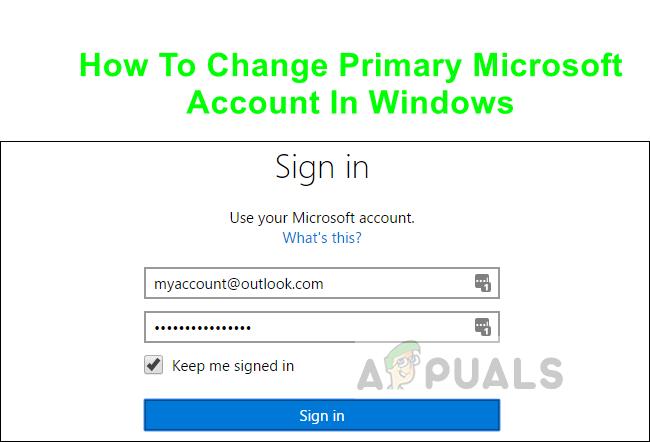 So ändern Sie das primäre Microsoft-Konto in Windows