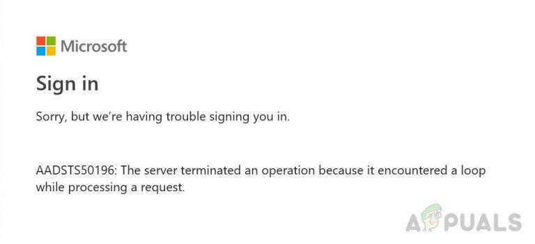Wie behebt man den AADSTS50196-Authentifizierungsfehler unter Windows 10?