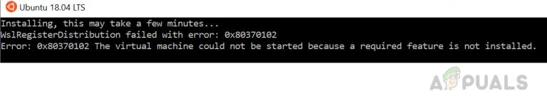 Wie behebt man den WSL-Registerverteilungsfehler 0x80370102 unter Windows 10?