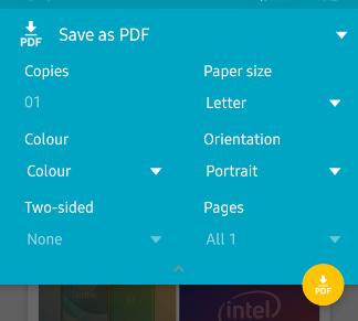So konvertieren Sie einen Screenshot in ein PDF in Android