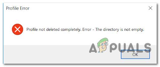 Fix: 'Profil nicht vollständig gelöscht' Fehler unter Windows 10