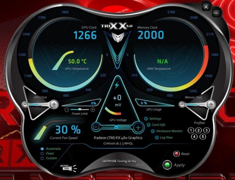 So verwenden Sie SAPPHIRE TriXX 7.5.0 zum Übertakten Ihrer SAPPHIRE-GPUs und Optimieren von Lüftergeschwindigkeit und -zustand