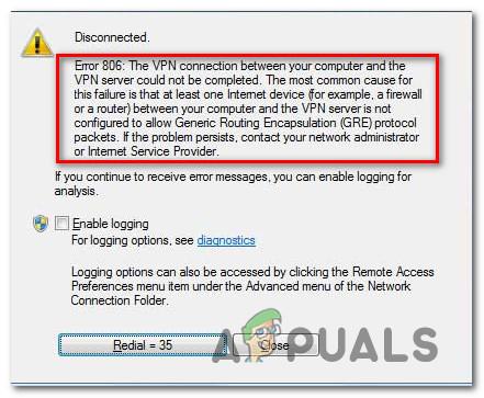 So beheben Sie VPN-Fehler 806 (GRE blockiert) unter Windows