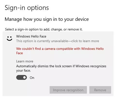 [FIX] Windows Hello-kompatible Kamera kann nicht mehr gefunden werden
