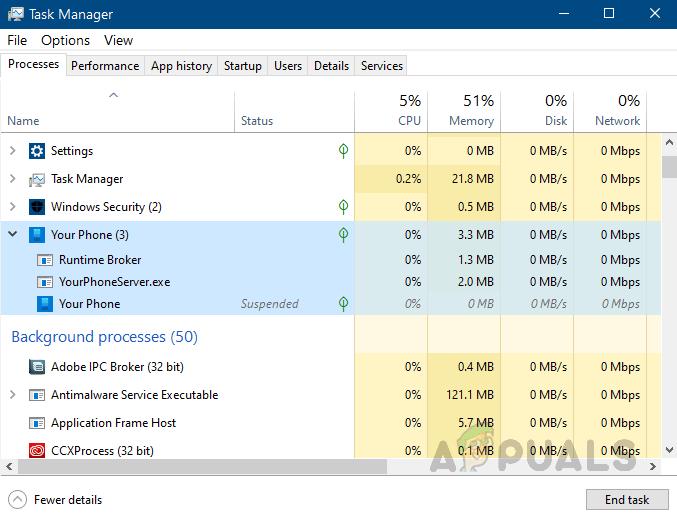 Yourphone.exe Hohe CPU-Auslastung?  So beheben Sie das Problem