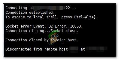 Wie behebt man den asynchronen Socket-Fehler 10053 auf dem Windows-Betriebssystem?