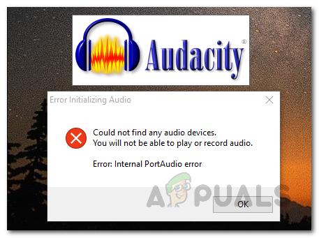 Fix: Audacity konnte keine Audiogeräte finden