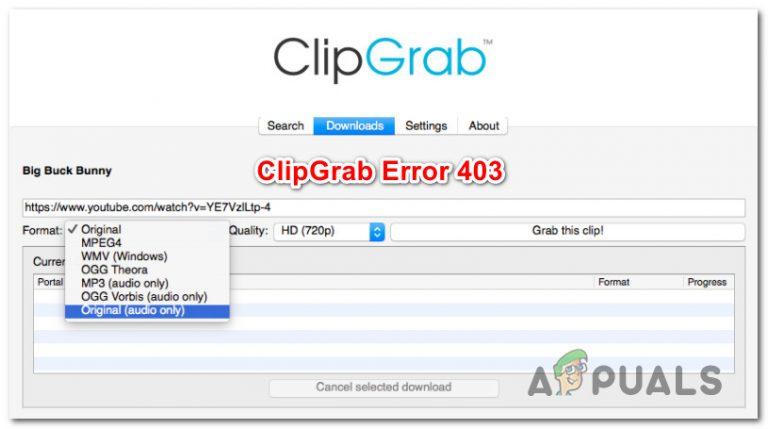 Beheben Sie den ClipGrab-Fehler 403 unter Windows und MacOS