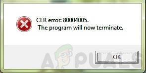 """So beheben Sie den CLR-Fehler 80004005 """"Das Programm wird jetzt beendet"""""""